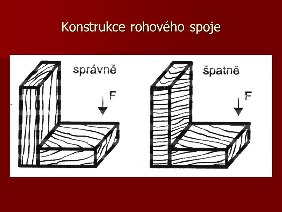 Konstrukce rohového spoje