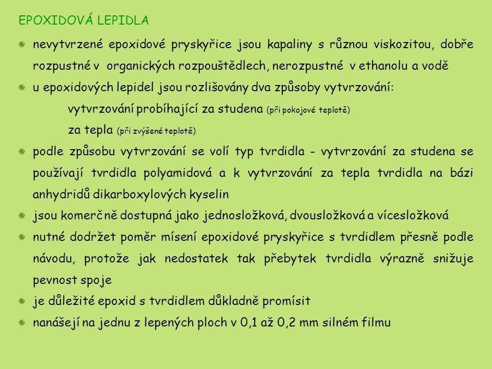 EPOXIDOVÁ LEPIDLA
