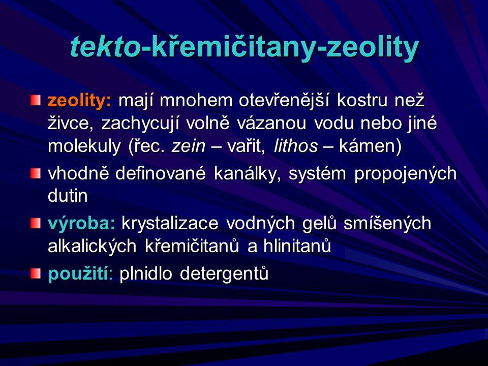 tekto-křemičitany-zeolity