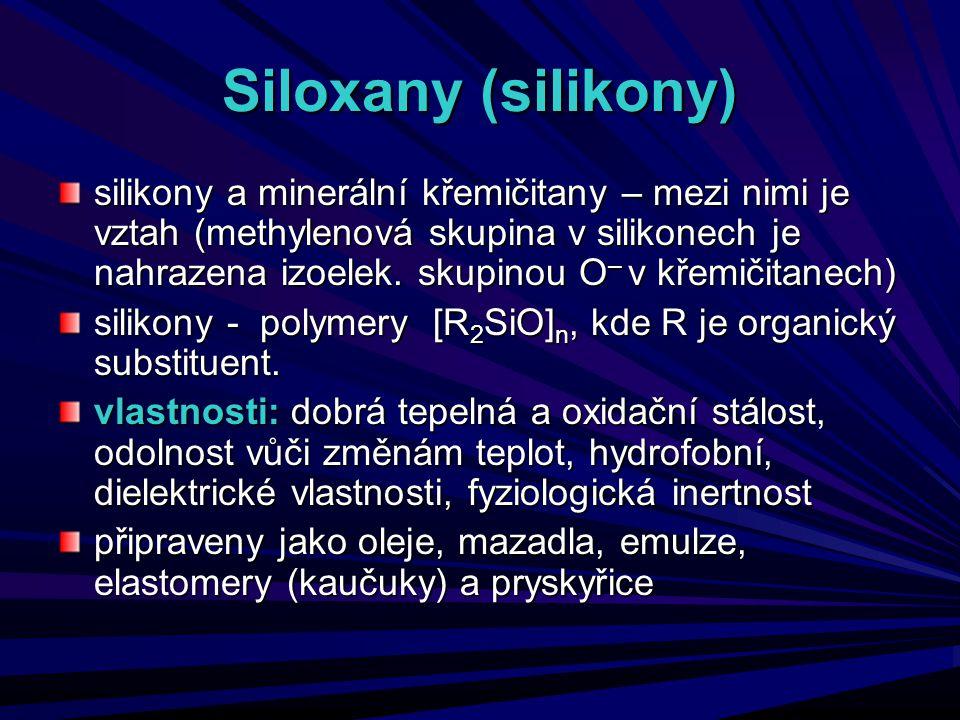 Siloxany (silikony)