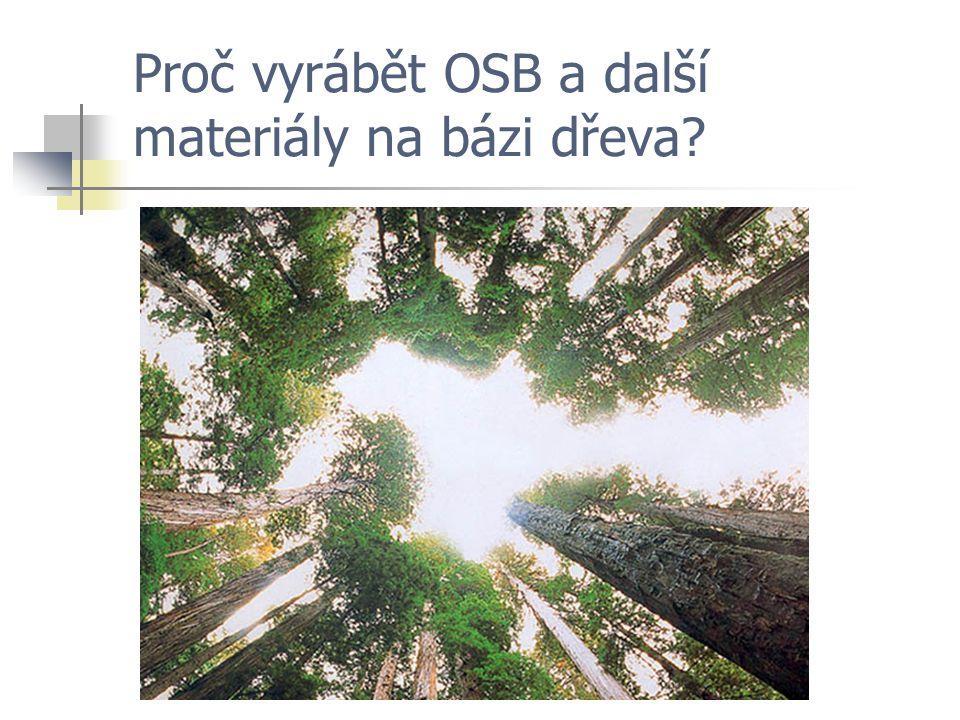 Proč vyrábět OSB a další materiály na bázi dřeva