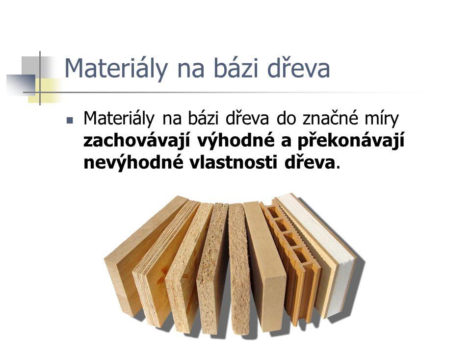 Materiály na bázi dřeva