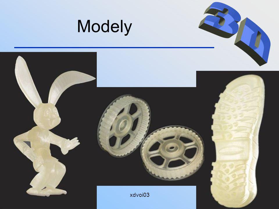 Modely 3D. Model se po vyjmutí z tiskárny musí ručně zbavit okolního nepotřebného materiálu. 15.4.2008.