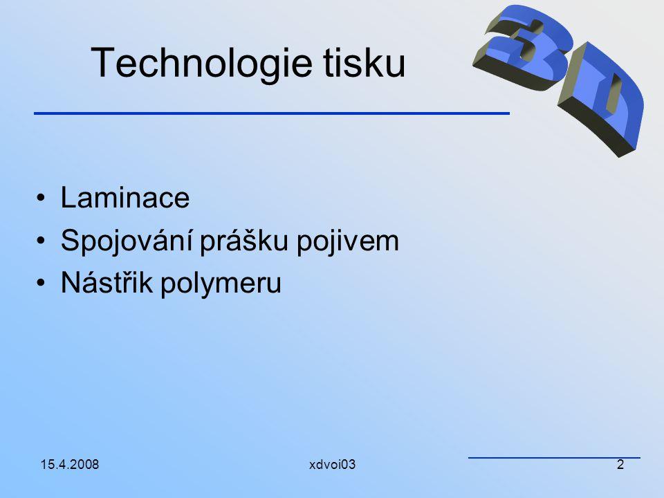 Technologie tisku 3D Laminace Spojování prášku pojivem