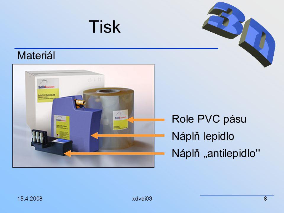 """Tisk 3D Materiál Role PVC pásu Náplň lepidlo Náplň """"antilepidlo"""
