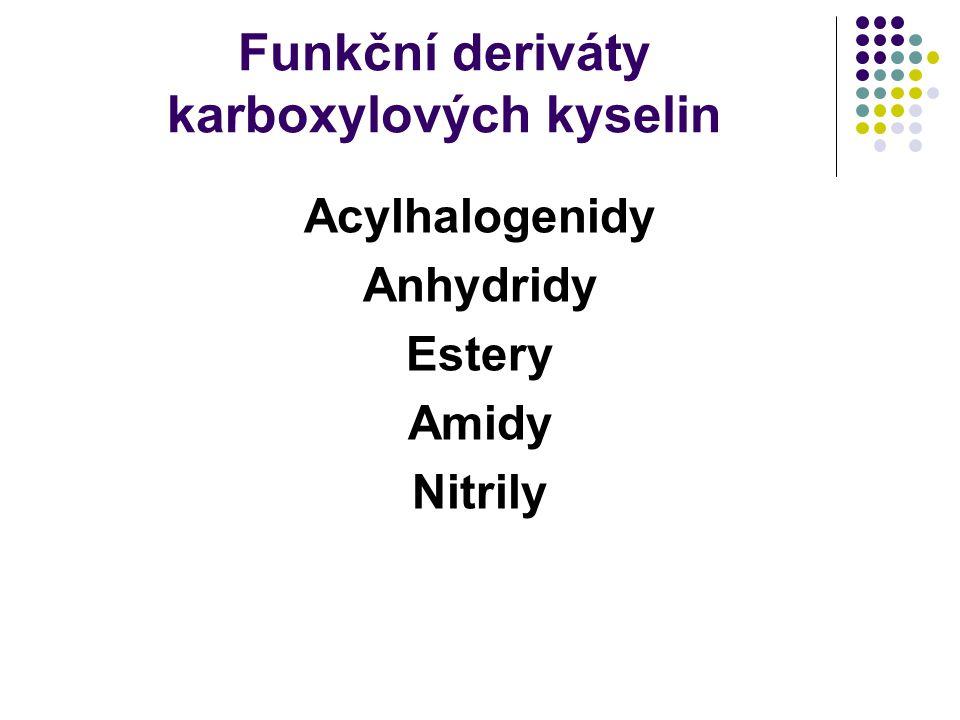 Funkční deriváty karboxylových kyselin