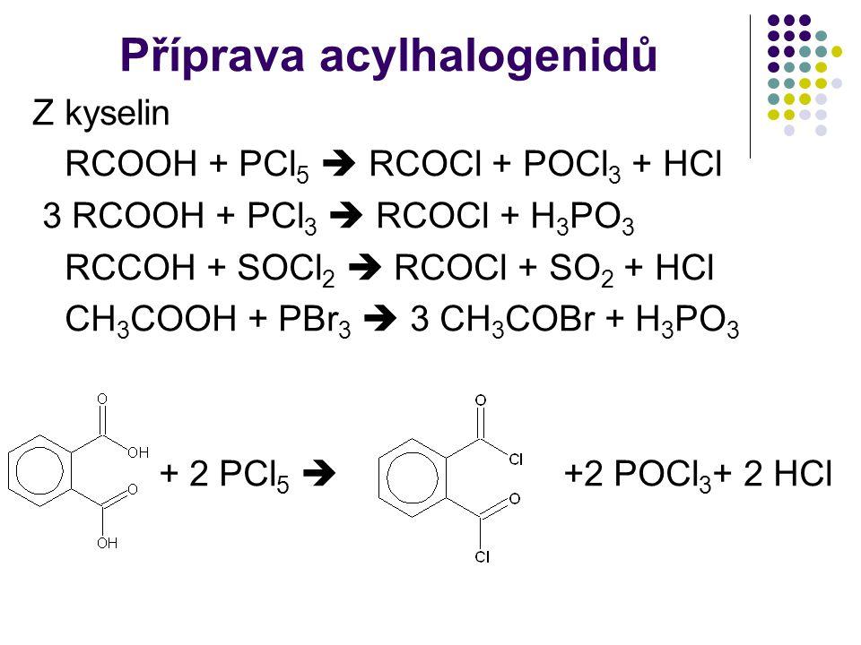 Příprava acylhalogenidů