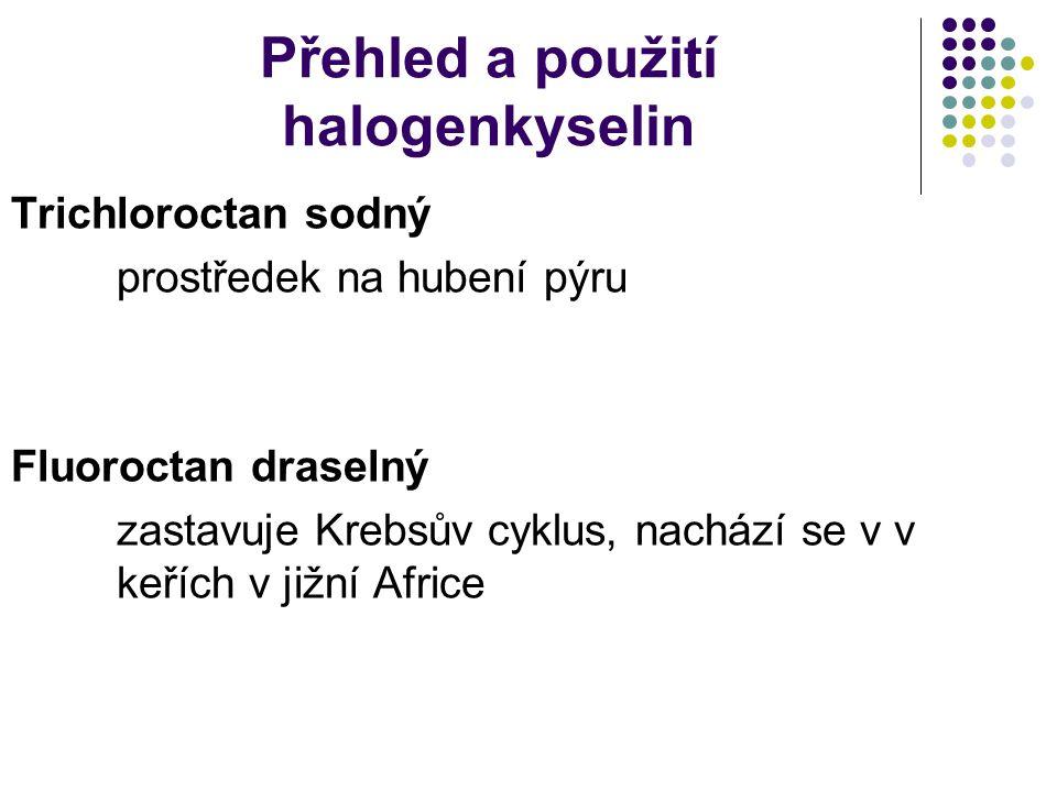 Přehled a použití halogenkyselin
