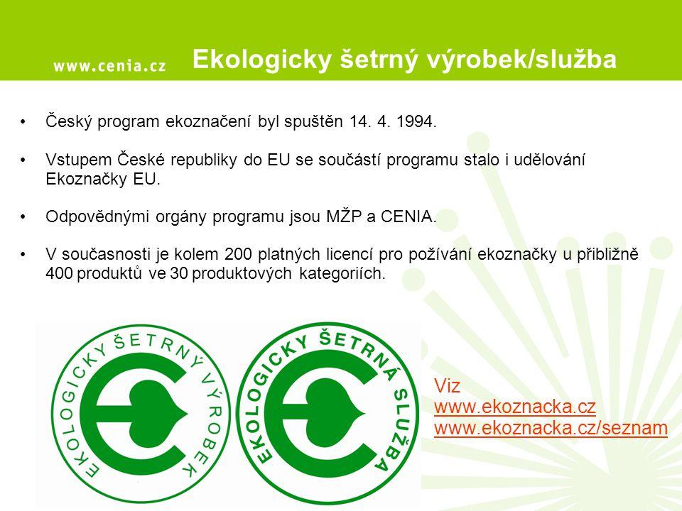 Ekologicky šetrný výrobek/služba