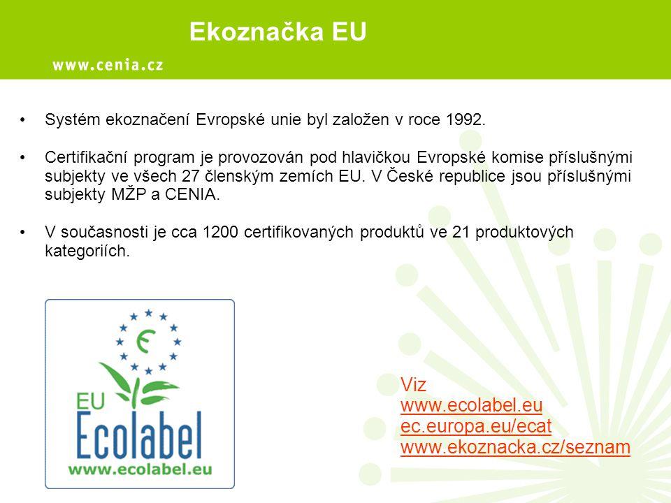 Ekoznačka EU Viz www.ecolabel.eu ec.europa.eu/ecat