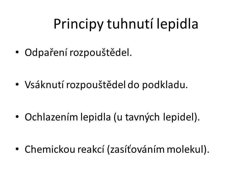 Principy tuhnutí lepidla