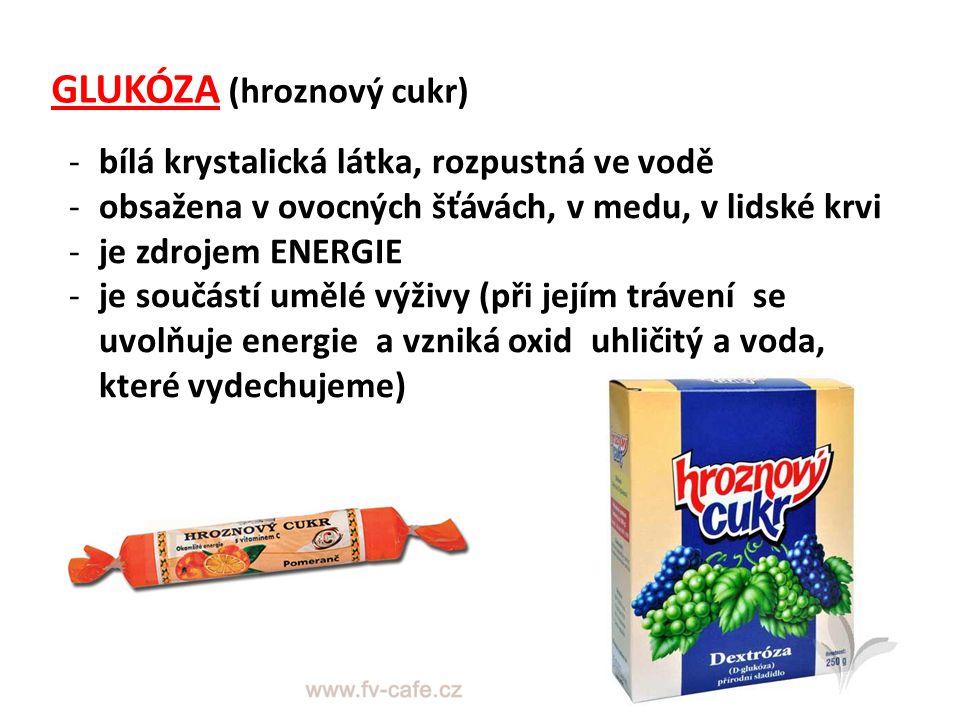 GLUKÓZA (hroznový cukr)