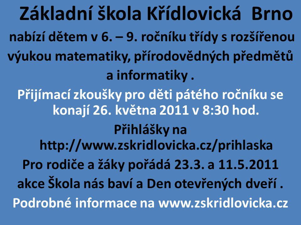 Základní škola Křídlovická Brno