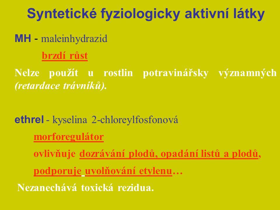 Syntetické fyziologicky aktivní látky