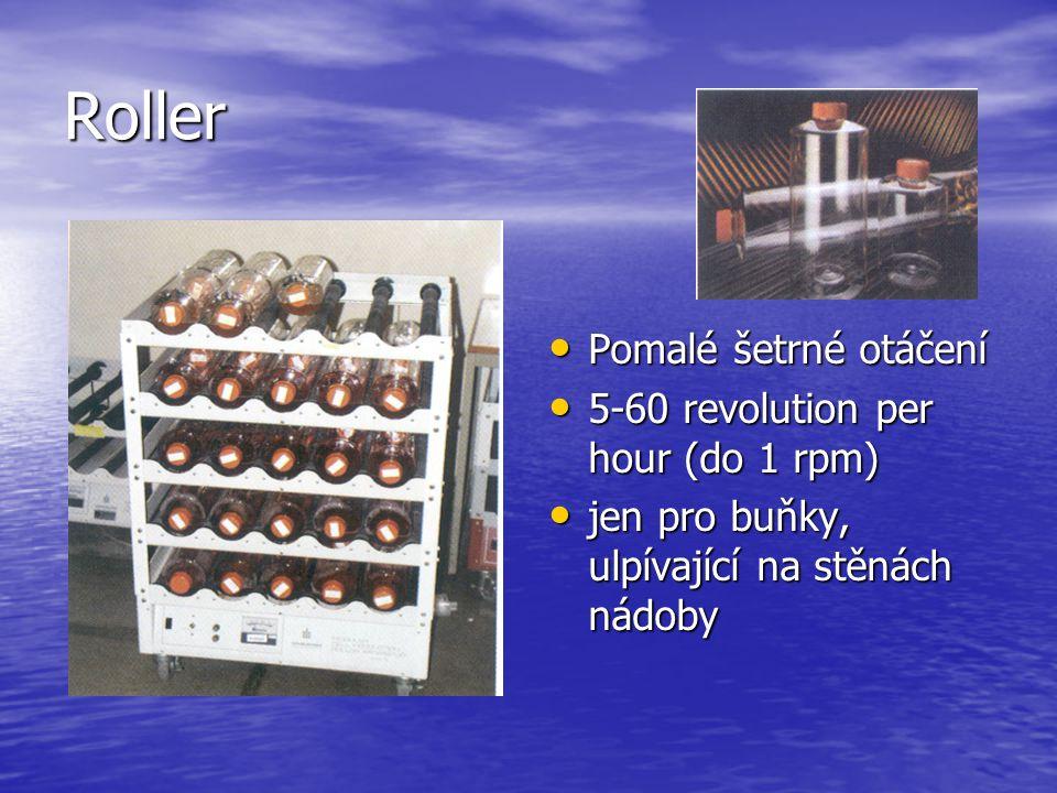 Roller Pomalé šetrné otáčení 5-60 revolution per hour (do 1 rpm)