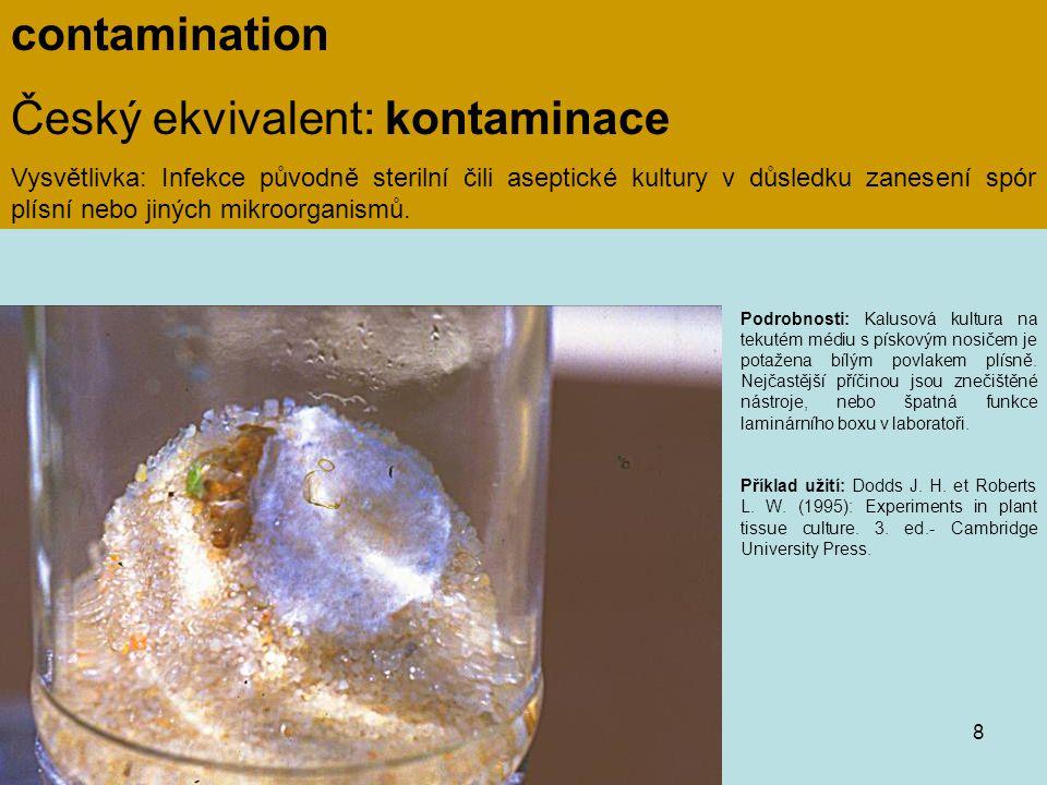 Český ekvivalent: kontaminace
