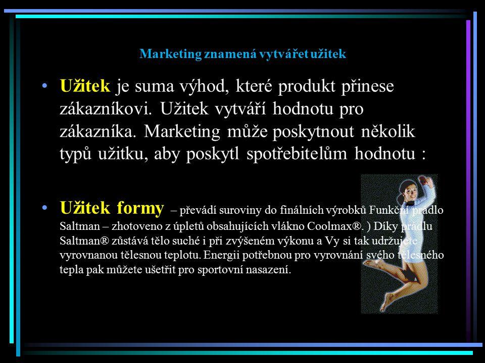 Marketing znamená vytvářet užitek