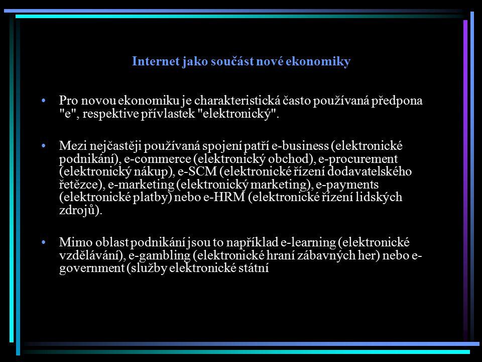Internet jako součást nové ekonomiky
