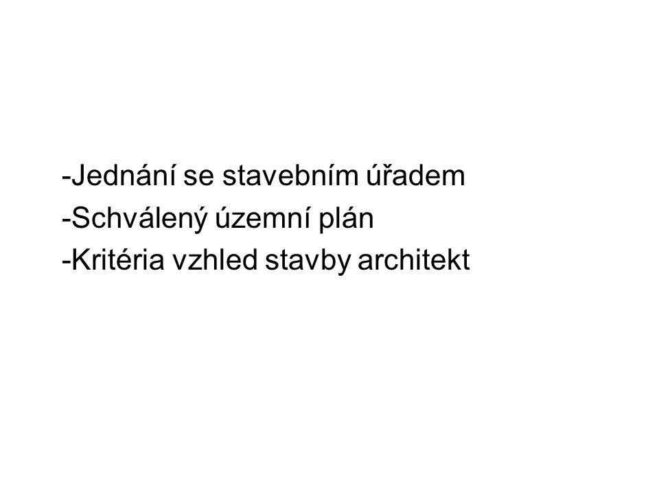 -Jednání se stavebním úřadem
