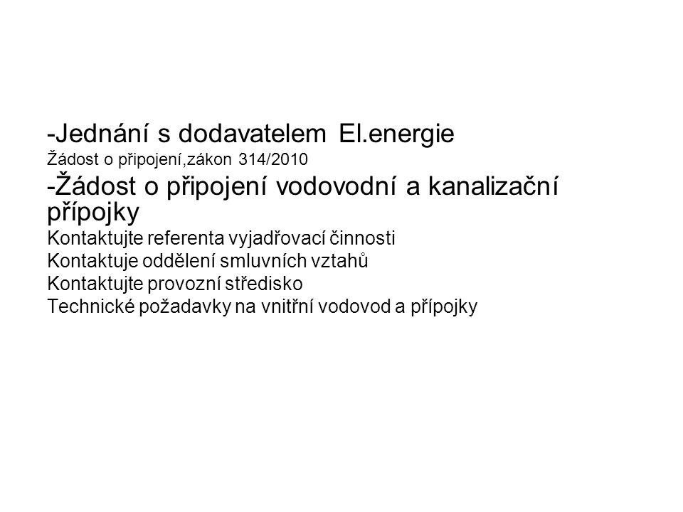-Jednání s dodavatelem El.energie