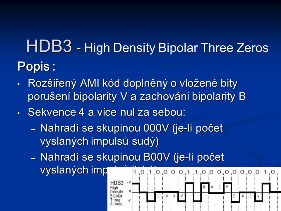 HDB3 - High Density Bipolar Three Zeros