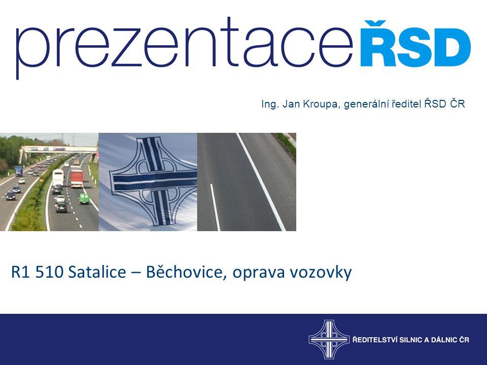 R1 510 Satalice – Běchovice, oprava vozovky