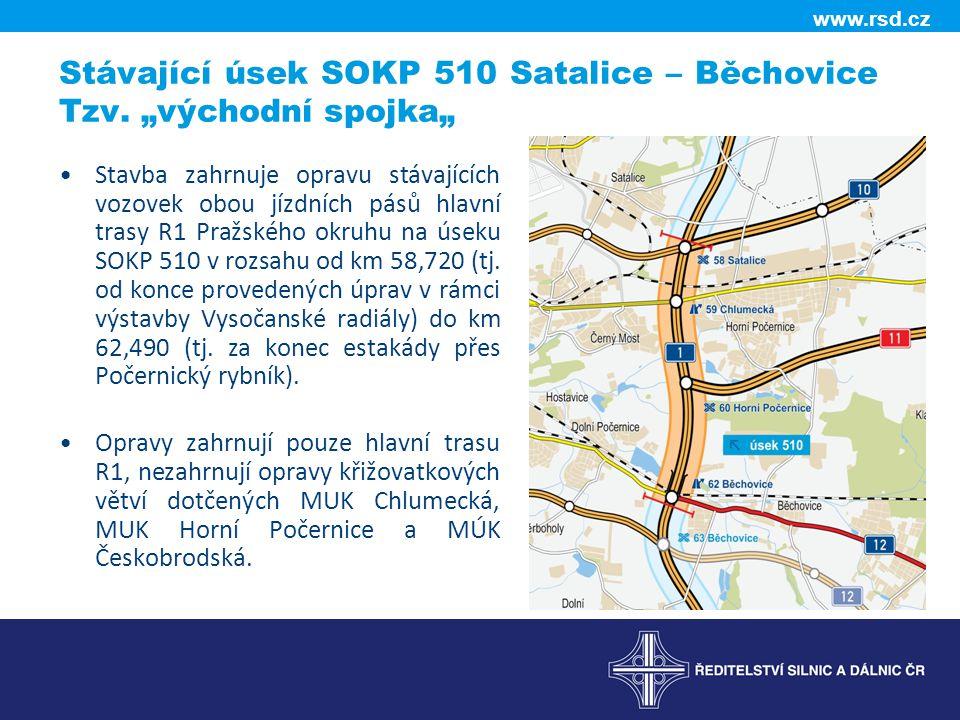 """Stávající úsek SOKP 510 Satalice – Běchovice Tzv. """"východní spojka"""""""