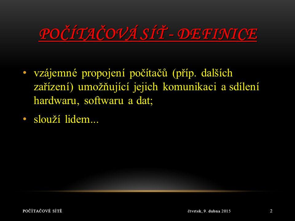 Počítačová síť - definice
