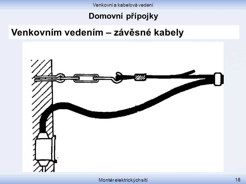Venkovním vedením – závěsné kabely
