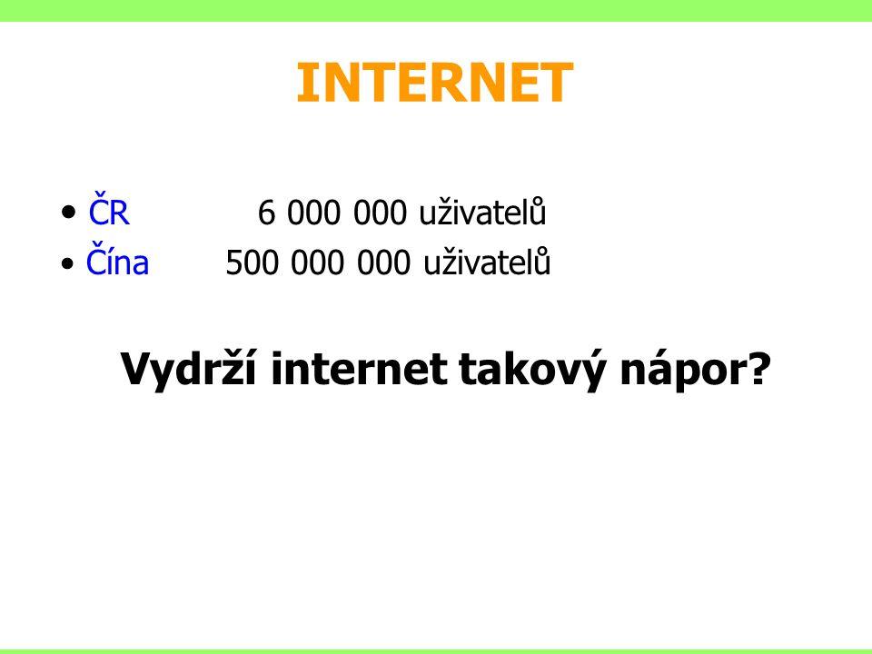 Vydrží internet takový nápor