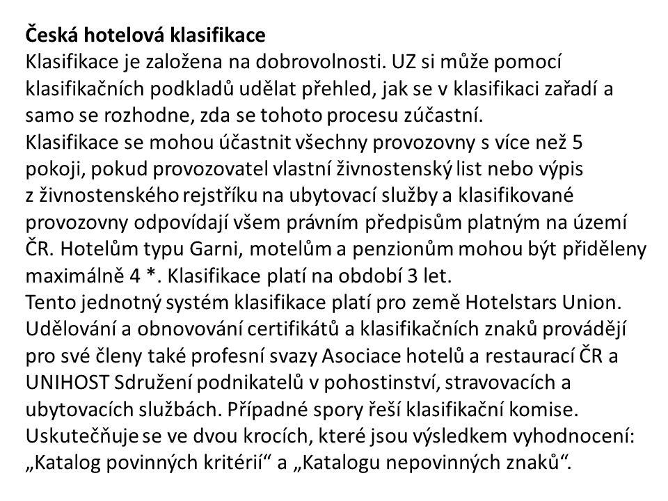 Česká hotelová klasifikace