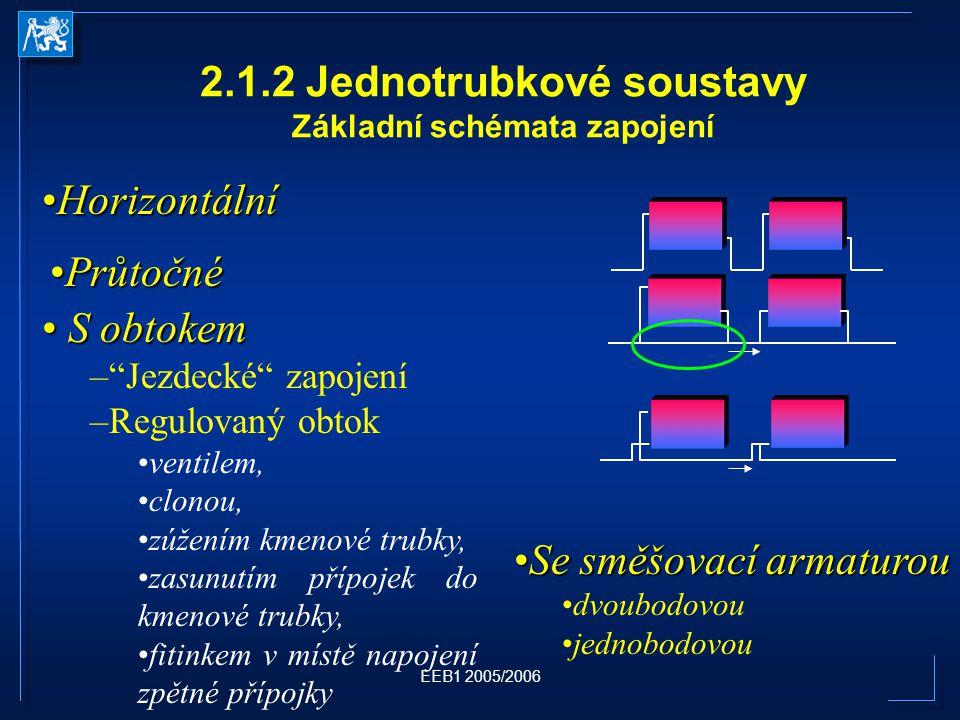 2.1.2 Jednotrubkové soustavy Základní schémata zapojení