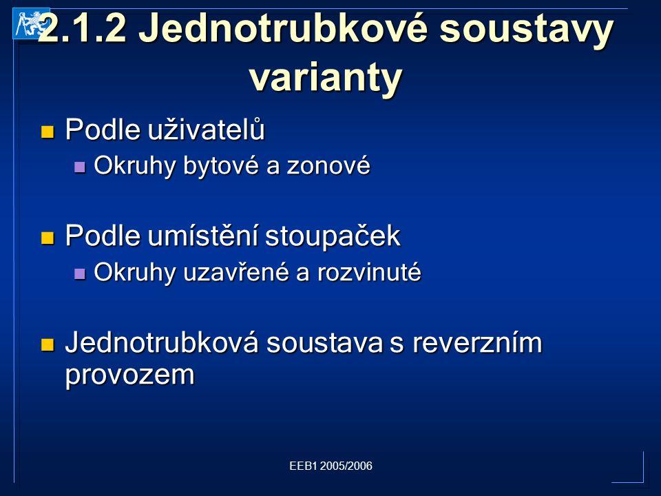 2.1.2 Jednotrubkové soustavy varianty