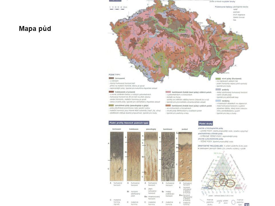 Mapa půd