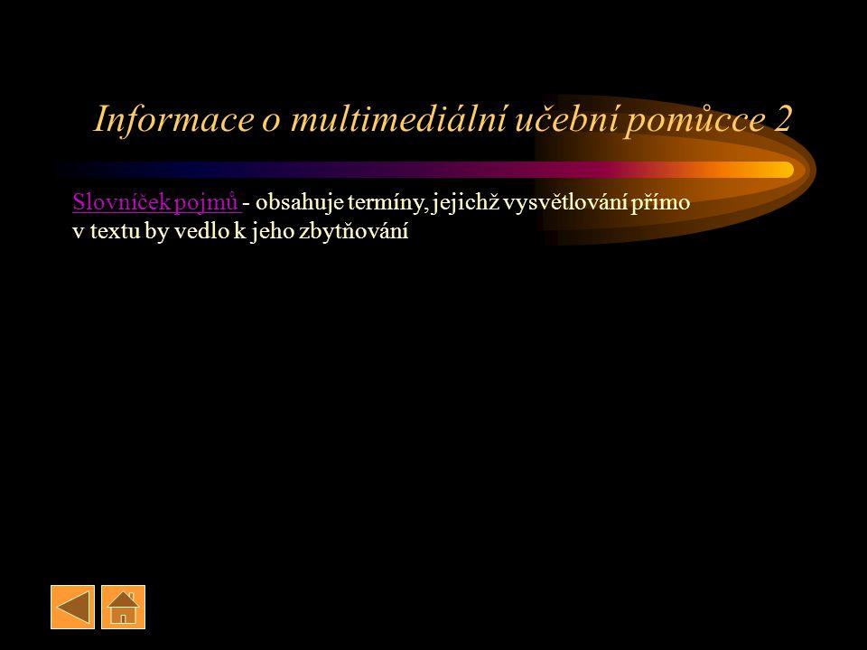 Informace o multimediální učební pomůcce 2