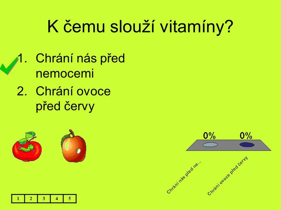 K čemu slouží vitamíny Chrání nás před nemocemi