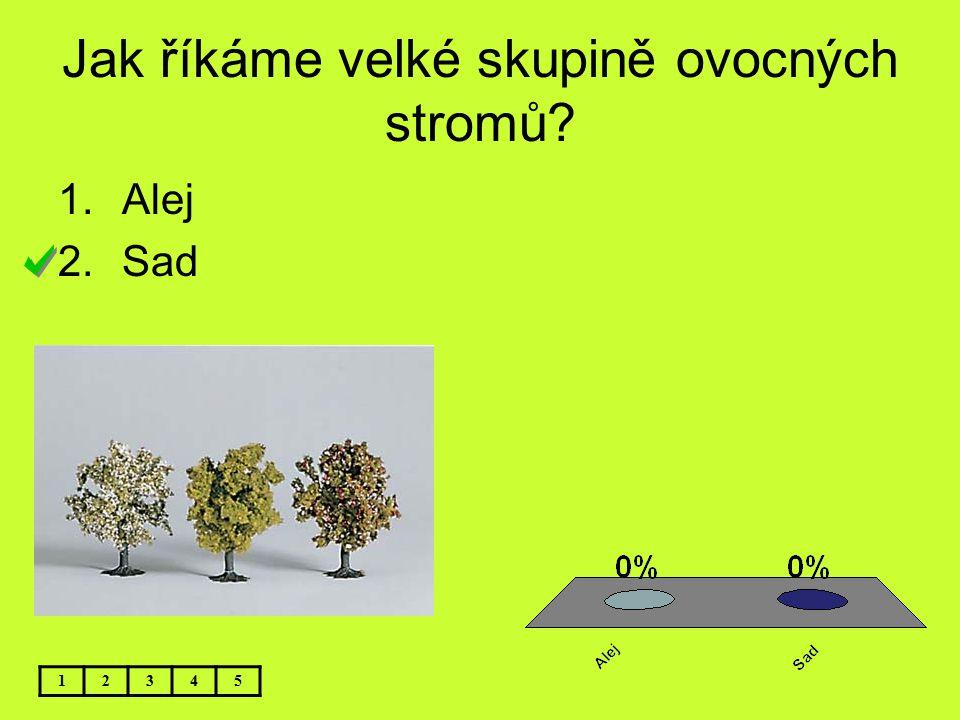 Jak říkáme velké skupině ovocných stromů