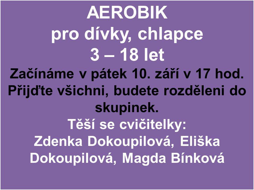 AEROBIK pro dívky, chlapce 3 – 18 let