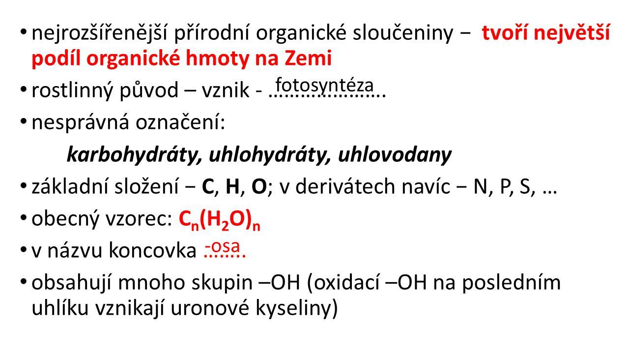 rostlinný původ – vznik - …………………. nesprávná označení: