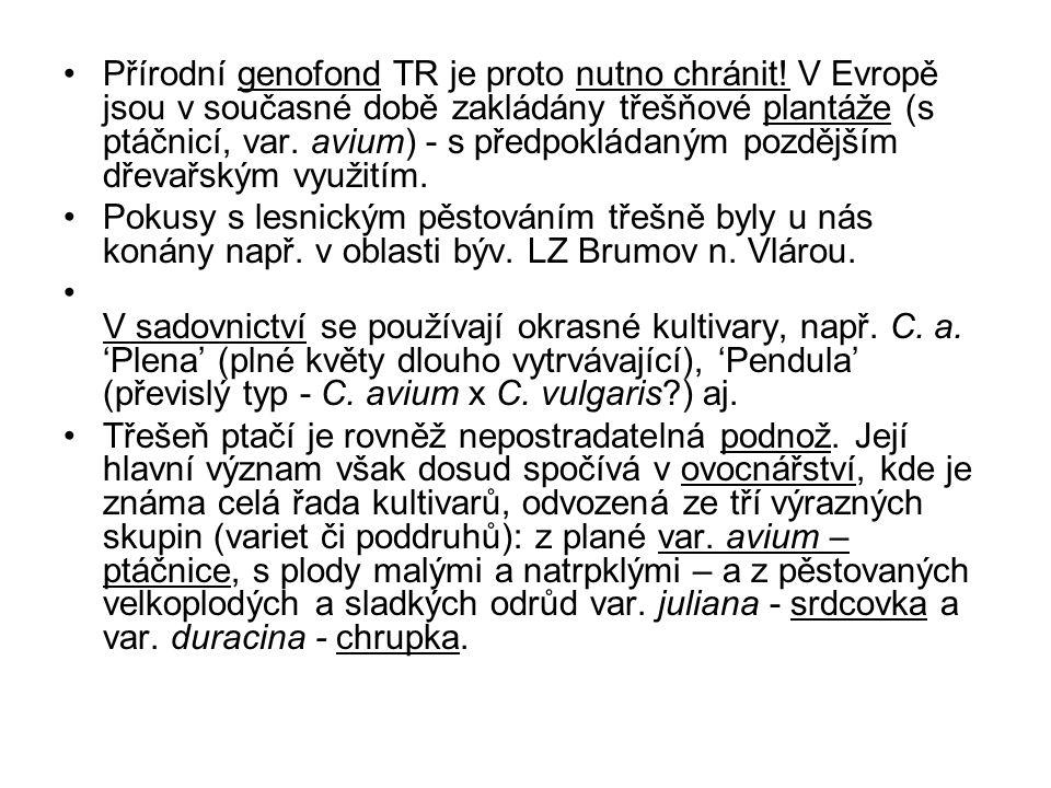 Přírodní genofond TR je proto nutno chránit
