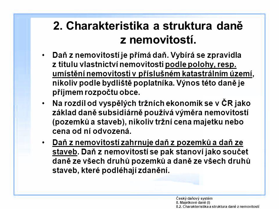 2. Charakteristika a struktura daně z nemovitostí.