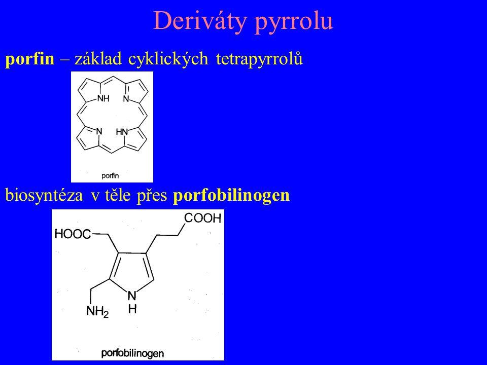 Deriváty pyrrolu porfin – základ cyklických tetrapyrrolů