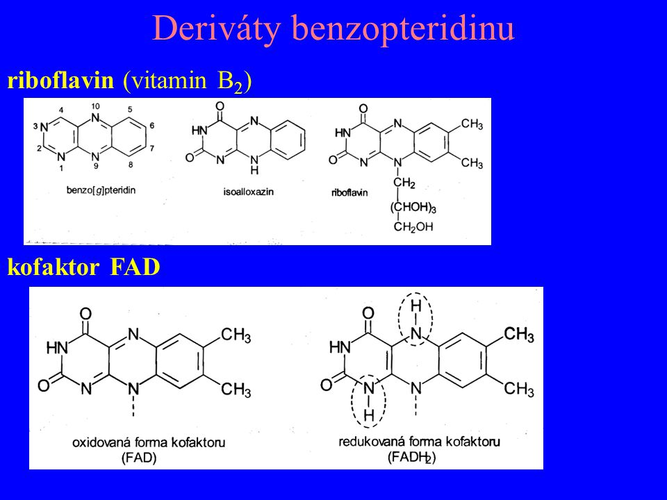 Deriváty benzopteridinu