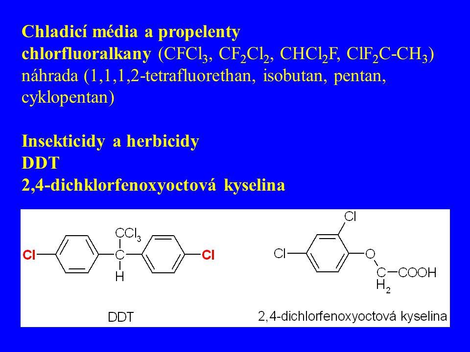Chladicí média a propelenty