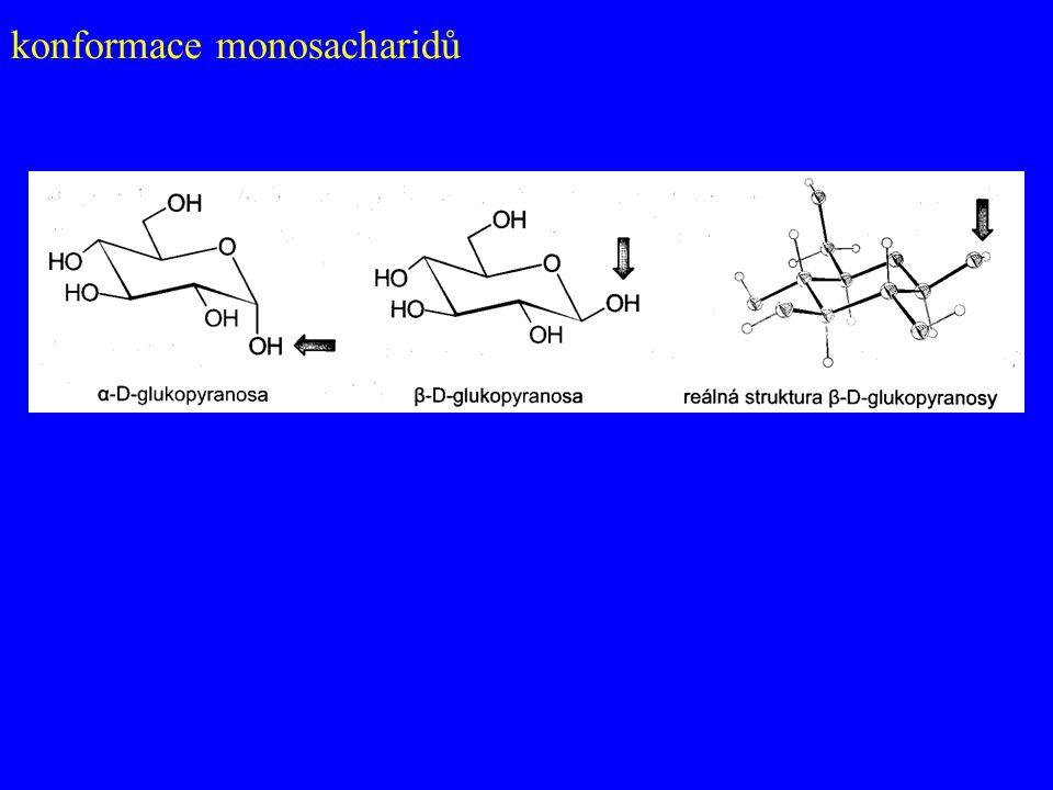 konformace monosacharidů