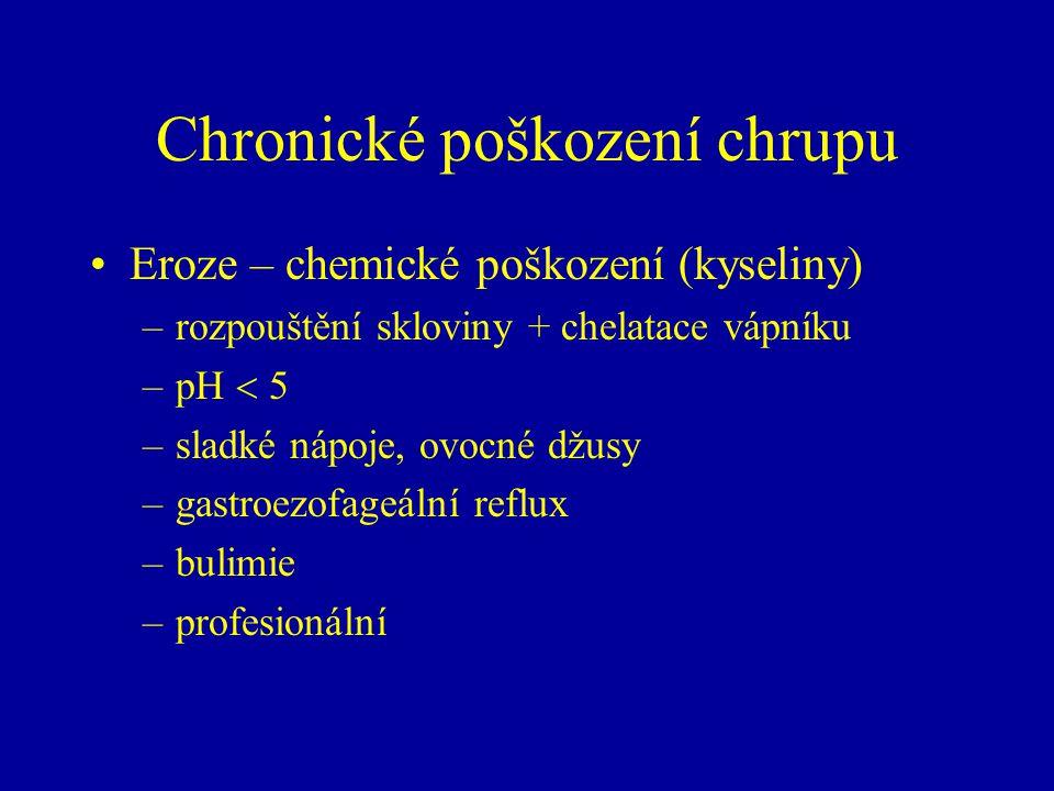 Chronické poškození chrupu