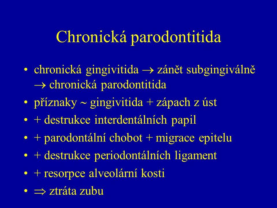 Chronická parodontitida