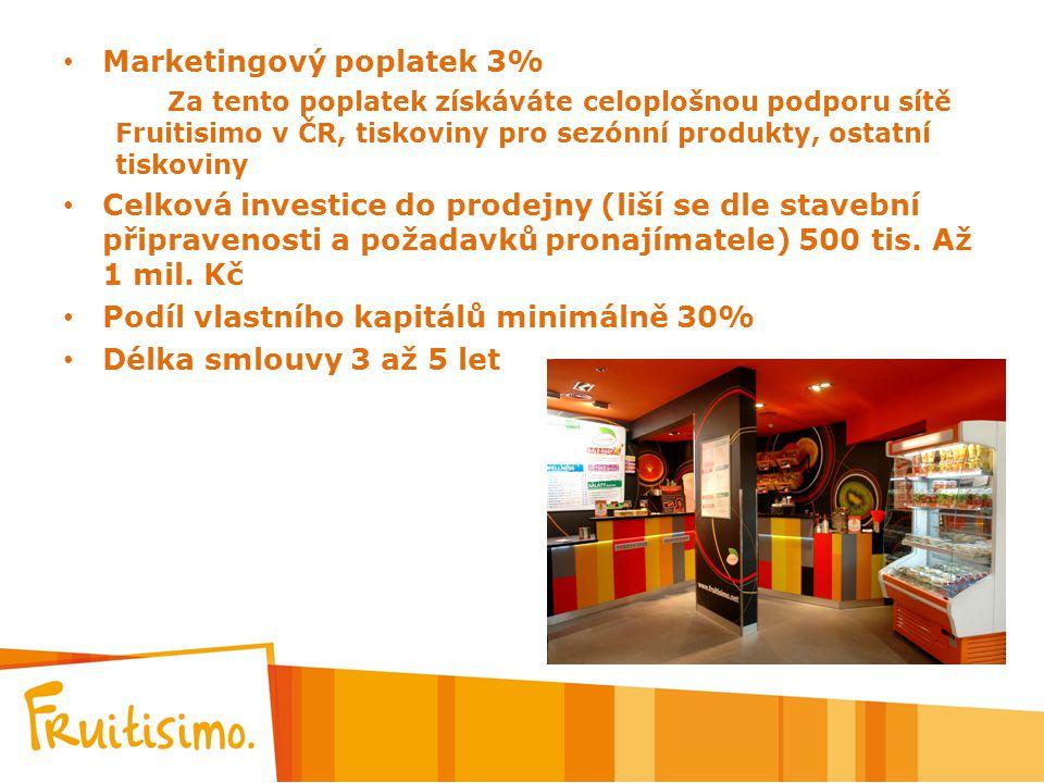 Marketingový poplatek 3%