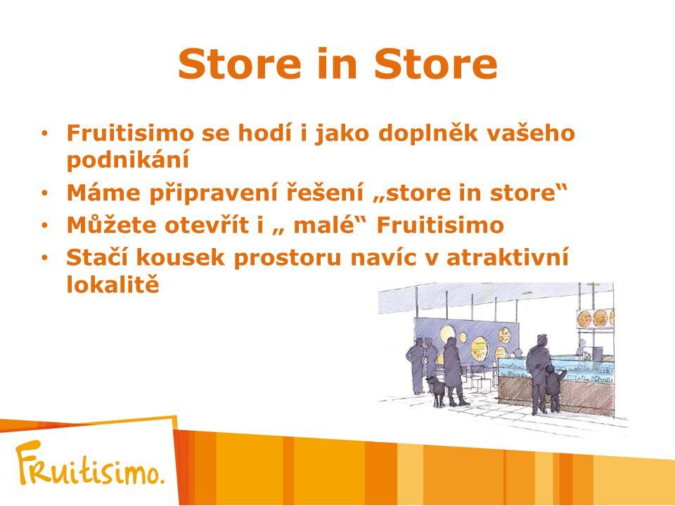 Store in Store Fruitisimo se hodí i jako doplněk vašeho podnikání