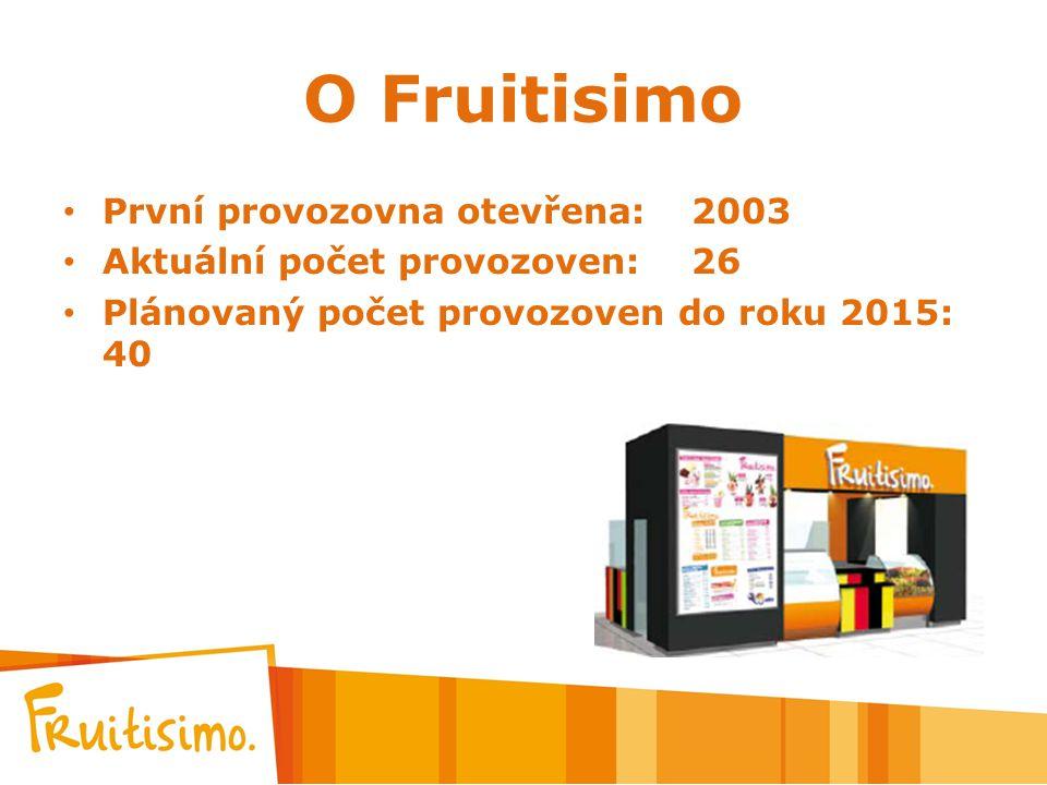 O Fruitisimo První provozovna otevřena: 2003